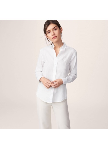 Gant %100 Keten Gömlek Beyaz